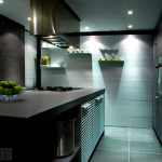 Bespoke kitchen design - Aluminium wall system
